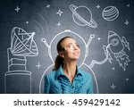 dreaming to explore space | Shutterstock . vector #459429142