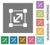 resize element flat icon set on ... | Shutterstock .eps vector #459430402