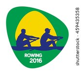 rowing icon  vector illustration | Shutterstock .eps vector #459435358
