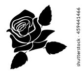 silhouette of rose on a white...   Shutterstock .eps vector #459441466