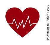cardio heart icon vector flat...