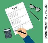 passing exam test. education...   Shutterstock .eps vector #459442882