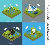 ecology isometric compositions... | Shutterstock .eps vector #459447712