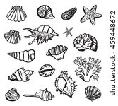 shell undersea world outline... | Shutterstock . vector #459448672