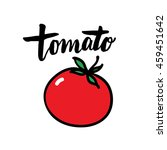 tomato illustration with hand... | Shutterstock .eps vector #459451642