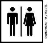 restroom icon.toilet icon.male... | Shutterstock . vector #459451846