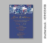floral wedding invitation with... | Shutterstock .eps vector #459455458