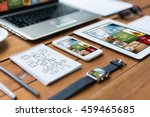 business  responsive design and ... | Shutterstock . vector #459465685