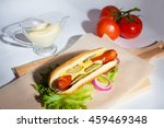 food. fast food. hot dog. menyu.... | Shutterstock . vector #459469348
