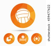 volleyball and net icons.... | Shutterstock . vector #459477622
