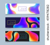 fluid colors banners set.... | Shutterstock .eps vector #459478282