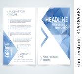 vector modern flyer  poster or... | Shutterstock .eps vector #459489682