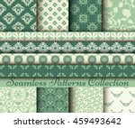 set of 8 classic patterns ... | Shutterstock .eps vector #459493642