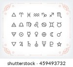 astrology symbols and mystic... | Shutterstock .eps vector #459493732