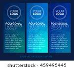 vertical polygonal banners   Shutterstock .eps vector #459495445