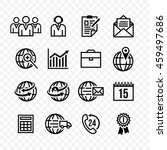 business set icons silhouette... | Shutterstock .eps vector #459497686