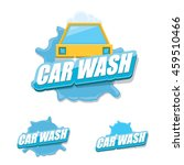 vector car wash icons set... | Shutterstock .eps vector #459510466