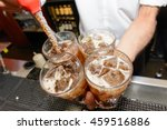 four glass cola pour | Shutterstock . vector #459516886