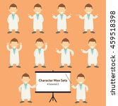 sets of scientist character... | Shutterstock .eps vector #459518398
