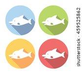 dolphin marine animal flat... | Shutterstock .eps vector #459525862