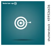 icon flat target with dart in... | Shutterstock .eps vector #459526636