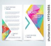 vector modern flyer  poster or... | Shutterstock .eps vector #459546886