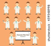 sets of scientist character... | Shutterstock .eps vector #459548998