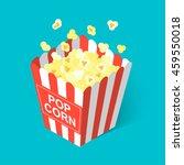 isometric popcorn icon  vector... | Shutterstock .eps vector #459550018