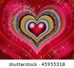 Valentine's hearts - stock photo