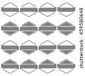 set of sixteen gray hexagonal... | Shutterstock .eps vector #459580648