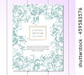 invitation with floral... | Shutterstock .eps vector #459583576