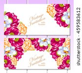 invitation with floral... | Shutterstock .eps vector #459583612