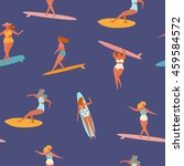 surfing girls illustration in... | Shutterstock .eps vector #459584572