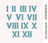 roman numerals set of vector... | Shutterstock .eps vector #459586696