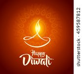 happy diwali diya oil lamp... | Shutterstock .eps vector #459587812