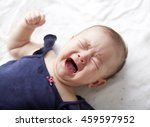 crying asian chinese baby girl... | Shutterstock . vector #459597952