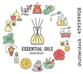 aromatherapy and essential oils ... | Shutterstock .eps vector #459599908