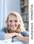 beautiful woman with blond hair ... | Shutterstock . vector #459600736