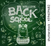 school blackboard sketch | Shutterstock .eps vector #459609682