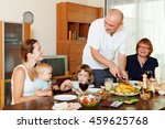 happy three generations family... | Shutterstock . vector #459625768