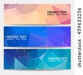 vector banners. geometrical... | Shutterstock .eps vector #459633256
