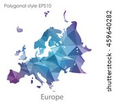 europe map in geometric... | Shutterstock .eps vector #459640282