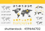 big set of maps and globes.... | Shutterstock .eps vector #459646702