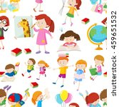 seamless background with... | Shutterstock .eps vector #459651532