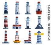 vector set of cartoon flat... | Shutterstock .eps vector #459658498