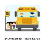 illustration of school kids...   Shutterstock .eps vector #459658786