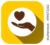 hands of the heart icon  vector ...