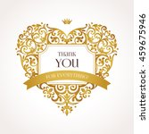 ornate vector heart in... | Shutterstock .eps vector #459675946