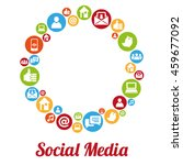 social media and networking... | Shutterstock . vector #459677092