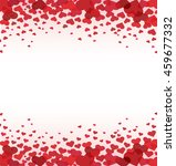 red heart background vector  | Shutterstock .eps vector #459677332